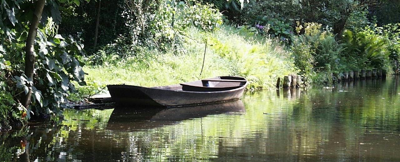 Ein Kahn im Spreewald, Quelle: Ra Boe